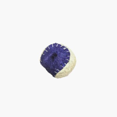 Pawmeal Loofah Baseball Toy Purple