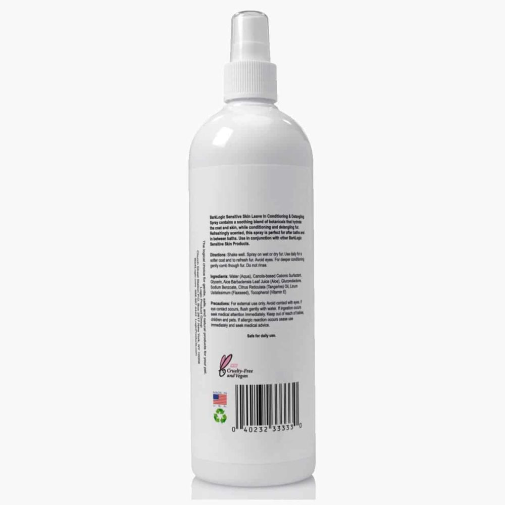 Sensitive Skin Leave In Conditioning & Detangling Spray Tangerine