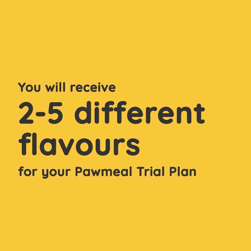 Pawmeal Home cooked Food Trial Plan for Dogs