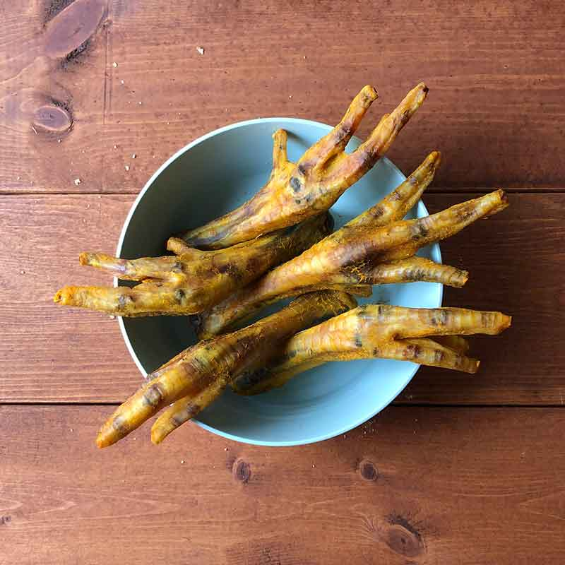 Pawmeal Chicken Feet with Turmeric and Basil