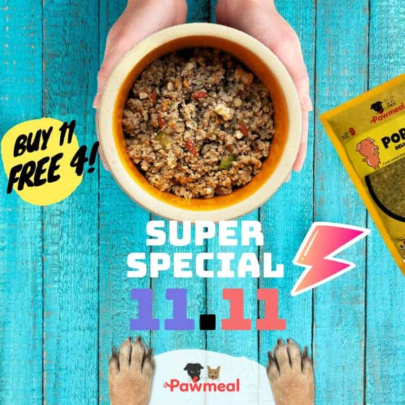 Pawmeal 11.11 Singles Day Promotion for Dogs